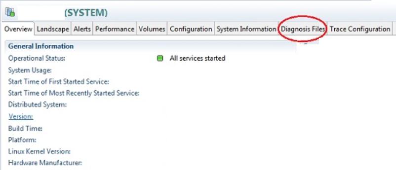 """<img src=""""FSD HANA Studio Diagnostic files.jpg"""" alt=""""CDiagnostic files tab in SAP HANA studio """" title=""""Diagnostic files tab"""">"""