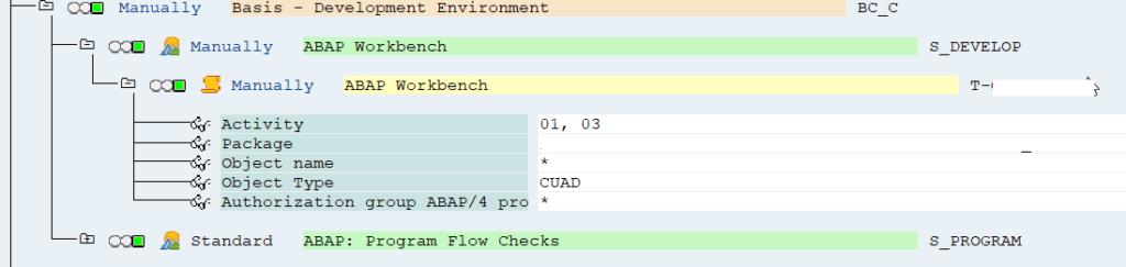 delete SAP developer key_restrict Authorization