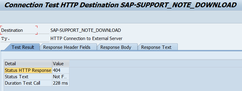 RFC test for TCI & digitally enabled SAP Notes