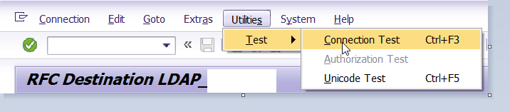 RFC connection Test