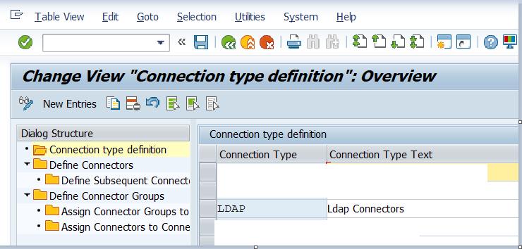 Define LDAP connection types