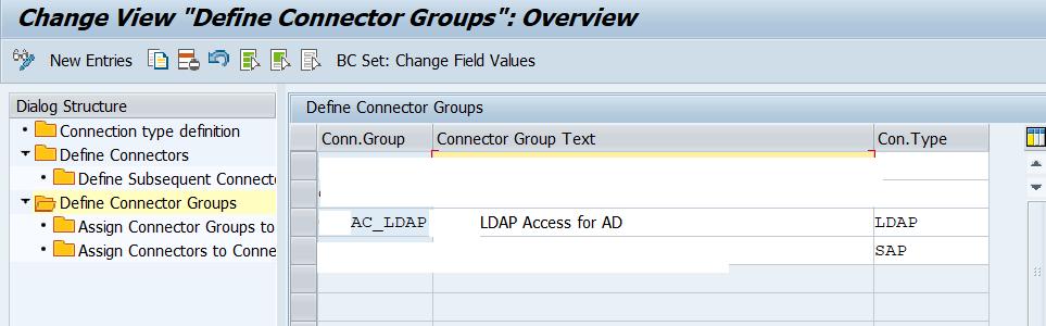 Define LDAP Connector groups