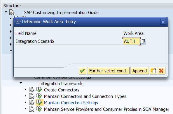 Maintain connection settings by assigning LDAP to scenarios