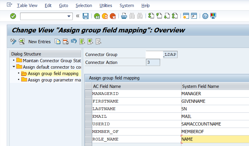 Maintain the group field mapping