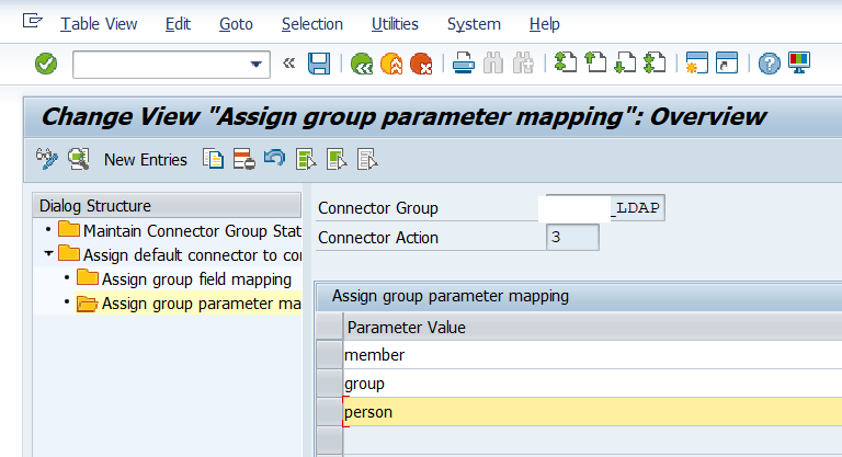Maintain the group parameter mapping