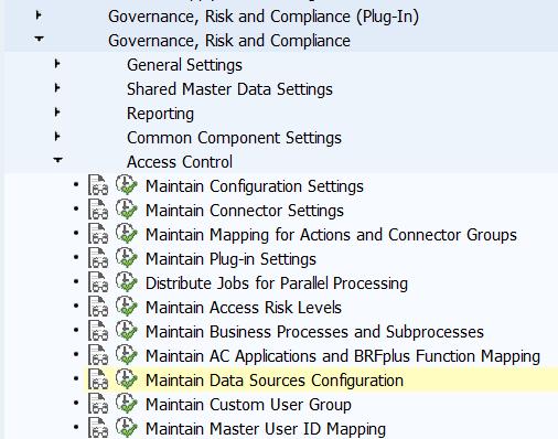 Maintain data sources Configuration