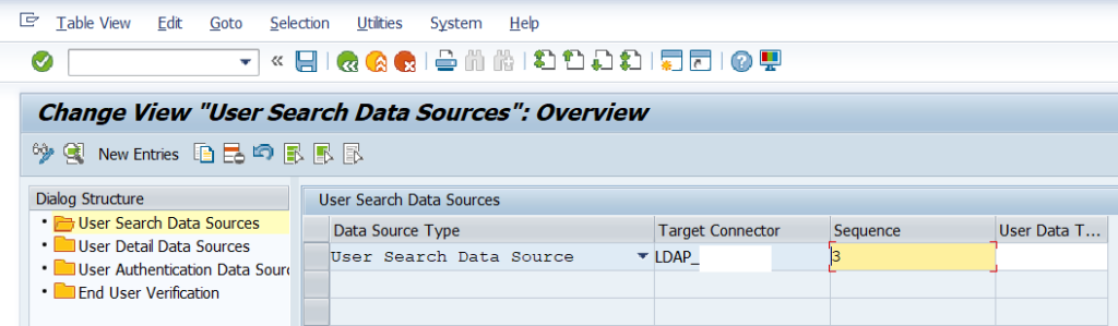 Add the LDAP connector and sequence as search data source
