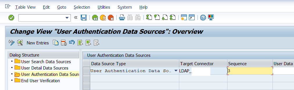 LDAP connector Add user authentication Data source