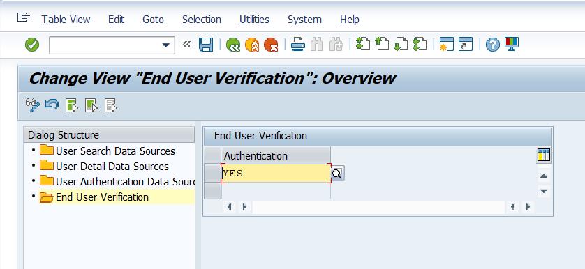 LDAP End user verification configuration
