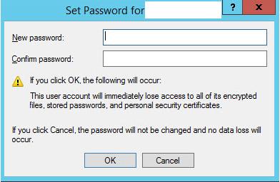 New Password Set New SAPServiceSID password via Microsoft Computer Management