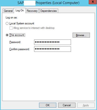 SAPServiceSID service update