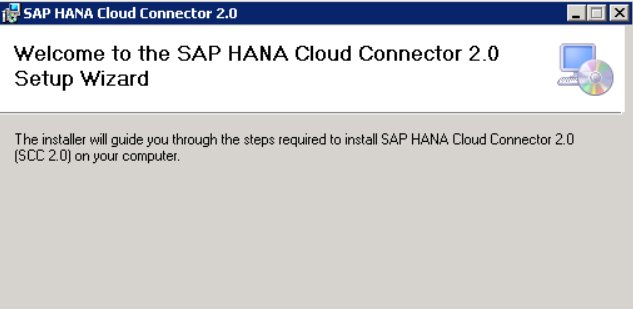 SAP Cloud Connector setup Wizard