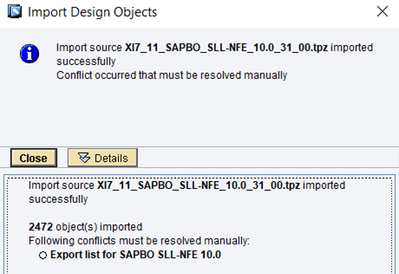 Import ESR Content in SAP PO ESR imort design objects