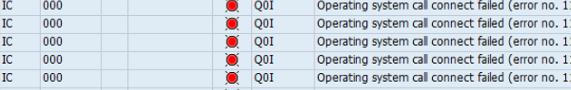 Q0I Operating System call Failed